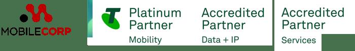 Telstra MobileCorp accreditations green