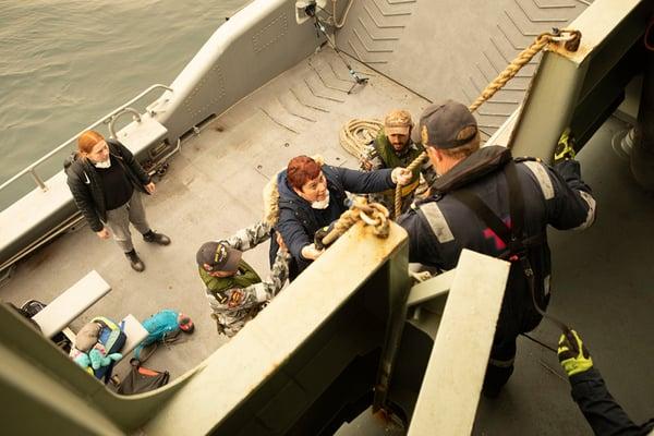 mallacoota evacuation by navy